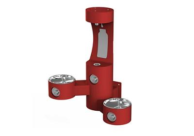 Image for Elkay Outdoor EZH2O Bottle Filling Station Wall Mount, Bi-Level, Non-Filtered Non-Refrigerated, Red from ELKAY