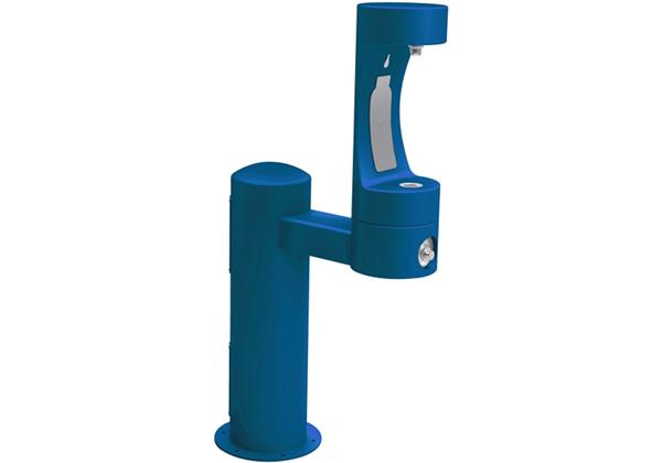 Image for Halsey Taylor Endura II Outdoor HydroBoost Bottle Filling Station, Pedestal, Non-Filtered, NonRefrige, Freeze Resistant, Blue from Halsey Taylor