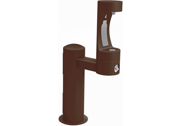 Image for Halsey Taylor Endura II Outdoor HydroBoost Bottle Filling Station, Pedestal, Non-Filtered, NonRefrige, Freeze Resistant, Brown from Halsey Taylor