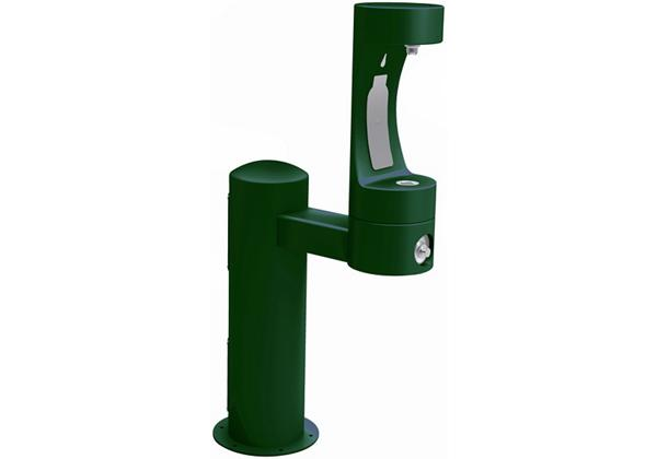 Image for Halsey Taylor Endura II Outdoor HydroBoost Bottle Filling Station, Pedestal Non-Filtered Non-Refrigerated FR, Evergreen from Halsey Taylor