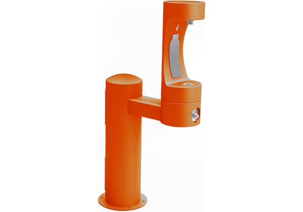 Image for Halsey Taylor Endura II Outdoor HydroBoost Bottle Filling Station, Pedestal, Non-Filtered, NonRefrige, Freeze Resistant, Orange from Halsey Taylor