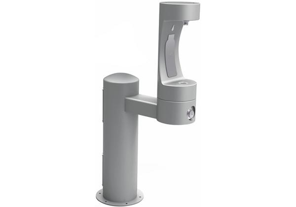 Image for Halsey Taylor Endura II Outdoor HydroBoost Bottle Filling Station, Pedestal Non-Filtered Non-Refrigerated, Gray from Halsey Taylor