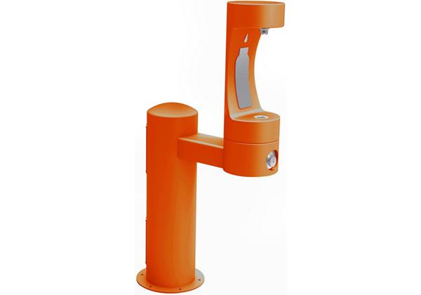 Image for Halsey Taylor Endura II Outdoor HydroBoost Bottle Filling, Station Pedestal Non-Filtered Non-refrigerated, Orange from Halsey Taylor