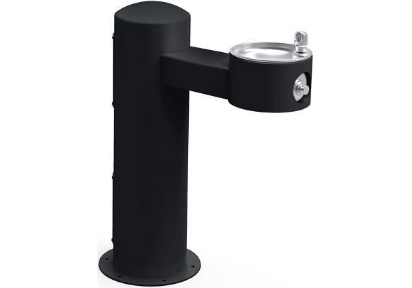 Image for Halsey Taylor Endura II Tubular Outdoor Fountain, Pedestal Non-Filtered Non-Refrigerated Freeze Resistant, Black from Halsey Taylor