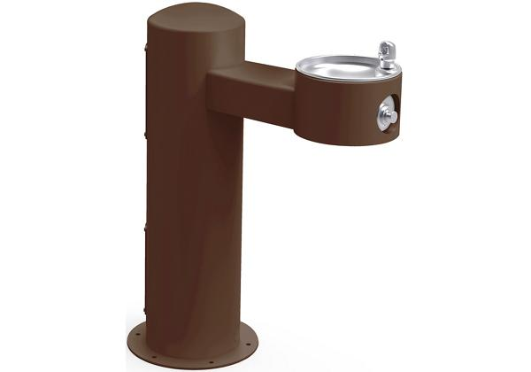 Image for Halsey Taylor Endura II Tubular Outdoor Fountain, Pedestal Non-Filtered Non-Refrigerated, Sanitary Freeze Resistant, Brown from Halsey Taylor