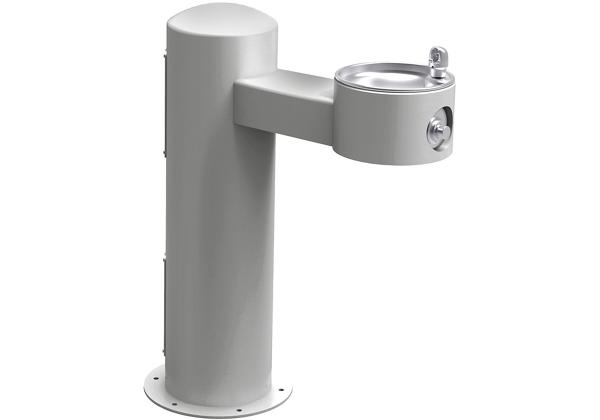 Image for Halsey Taylor Endura II Tubular Outdoor Fountain, Pedestal Non-Filtered Non-Refrigerated, Sanitary Freeze Resistant, Gray from Halsey Taylor