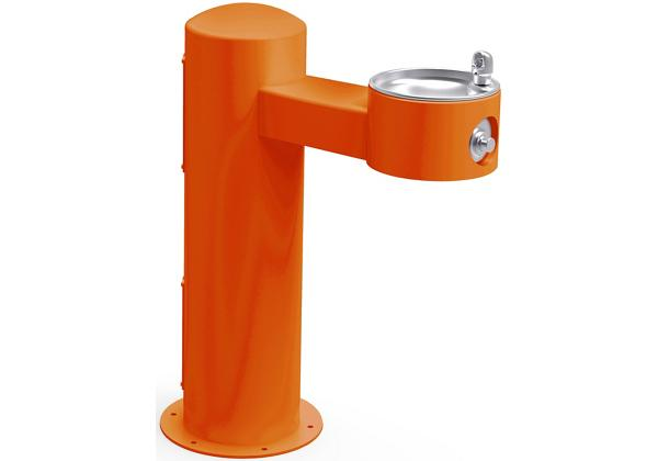 Image for Halsey Taylor Endura II Tubular Outdoor Fountain, Pedestal Non-Filtered Non-Refrigerated, Sanitary Freeze Resistant, Orange from Halsey Taylor
