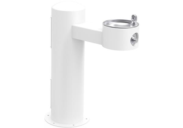 Image for Halsey Taylor EnduraII Tubular Outdoor Fountain, Pedestal, Non-Filtered, Non-Refrigerated, Freeze Resistant, White from Halsey Taylor