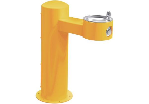 Image for Halsey Taylor EnduraII Tubular Outdoor Fountain, Pedestal, Non-Filtered, Non-Refrigerated, Yellow from Halsey Taylor