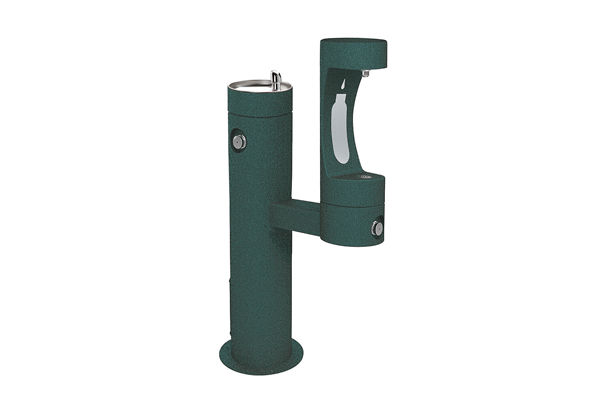 Elkay Outdoor EZH2O Bottle Filling Station Bi-Level Pedestal, Non-Filtered Non-Refrigerated