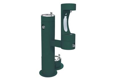Image for Elkay Outdoor EZH2O Bottle Filling Station Bi-Level, Pedestal with Pet Station Non-Filtered Non-Refrigerated from ELKAY