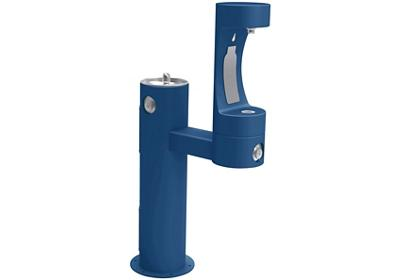 Image for Elkay Outdoor EZH2O Bottle Filling Station Bi-Level Pedestal, Non-Filtered Non-Refrigerated Blue from ELKAY