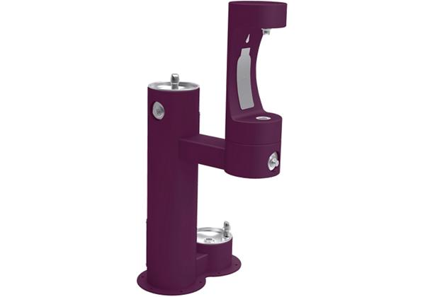 Image for Halsey Taylor Endura II Outdoor HydroBoost Bottle Filling, Station Bi-Level with Pet Station Non-Filtered, NonRefrige Purple from Halsey Taylor
