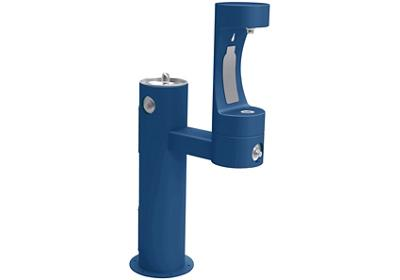 Image for Elkay Outdoor ezH2O Bottle Filling Station Bi-Level Pedestal, Non-Filtered Non-Refrigerated Freeze Resistant Blue from ELKAY
