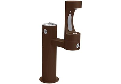 Image for Elkay Outdoor EZH2O Bottle Filling Station Bi-Level Pedestal, Non-Filtered Non-Refrigerated Freeze Resistant Brown from ELKAY