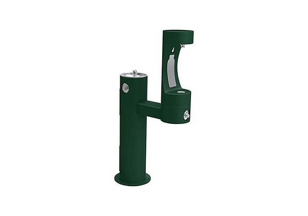 Image for Elkay Outdoor EZH2O Bottle Filling Station Bi-Level Pedestal, Non-Filtered Non-Refrigerated Freeze Resistant Evergreen from Elkay Asia Pacific
