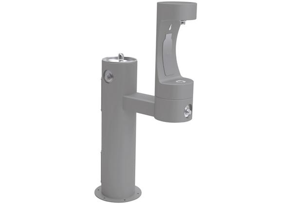 Image for Halsey Taylor Endura II Outdoor HydroBoost Bottle Filling Station, Bi-Level Pedestal Non-Filtered Non-Refrigerated FR, Gray from Halsey Taylor