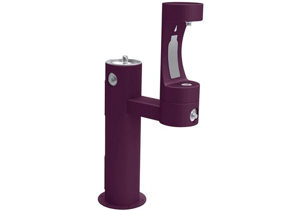 Image for Halsey Taylor Endura II Outdoor HydroBoost Bottle Filling Station, Bi-Level Pedestal Non-Filtered Non-Refrigerated FR, Purple from Halsey Taylor