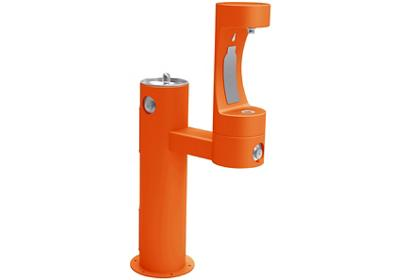 Image for Elkay Outdoor EZH2O Bottle Filling Station Bi-Level Pedestal, Non-Filtered Non-Refrigerated Orange from ELKAY