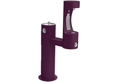 Image for Elkay Outdoor EZH2O Bottle Filling Station Bi-Level Pedestal, Non-Filtered Non-Refrigerated Purple from ELKAY