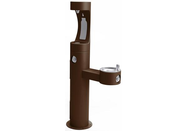 Image for Elkay Outdoor EZH2O Bottle Filling Station Bi-Level Pedestal, Non-Filtered Non-Refrigerated Freeze Resistant Brown from Elkay Europe and Africa