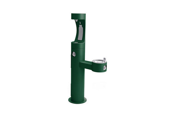 Elkay Outdoor ezH2O Bottle Filling Station Bi-Level Pedestal, Non-Filtered Non-Refrigerated Freeze Resistant