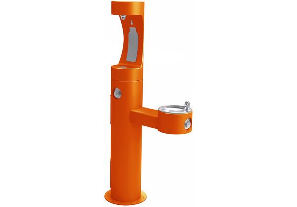 Image for Halsey Taylor Endura II Outdoor HydroBoost Bottle Filling Station, Bi-Level Pedestal, NonFilter, NonRefrige, FreezeResist Orange from Halsey Taylor