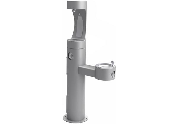 Image for Halsey Taylor Endura II Outdoor HydroBoost Bottle Filling, Station Bi-Level Pedestal Non-Filtered, Non-Refrigerated Gray from Halsey Taylor
