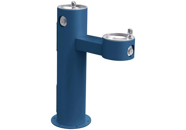Image for Halsey Taylor Endura II Tubular Outdoor Fountain, Bi-Level Pedestal Non-Filtered Non-Refrigerated, Blue from Halsey Taylor