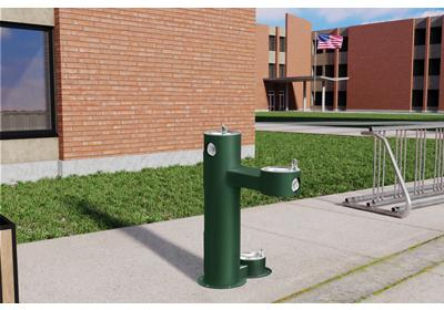 Image for Elkay Outdoor Fountain Bi-Level Pedestal with Pet Station, Non-Filtered Non-Refrigerated from ELKAY
