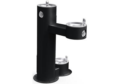 Image for Elkay Outdoor Fountain Bi-Level Pedestal with Pet Station, Non-Filtered Non-Refrigerated Black from ELKAY