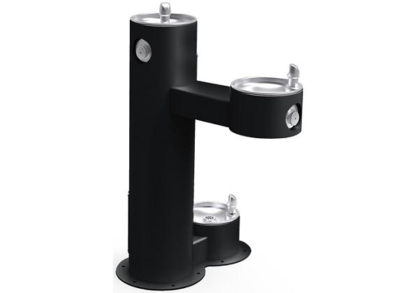 Image for Elkay Outdoor Fountain Bi-Level Pedestal with Pet Station, Non-Filtered Non-Refrigerated Black from Elkay Europe and Africa