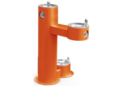 Image for Elkay Outdoor Fountain Bi-Level Pedestal with Pet Station, Non-Filtered Non-Refrigerated Orange from ELKAY