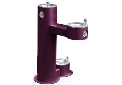 Image for Elkay Outdoor Fountain Bi-Level Pedestal with Pet Station, Non-Filtered Non-Refrigerated Purple from ELKAY