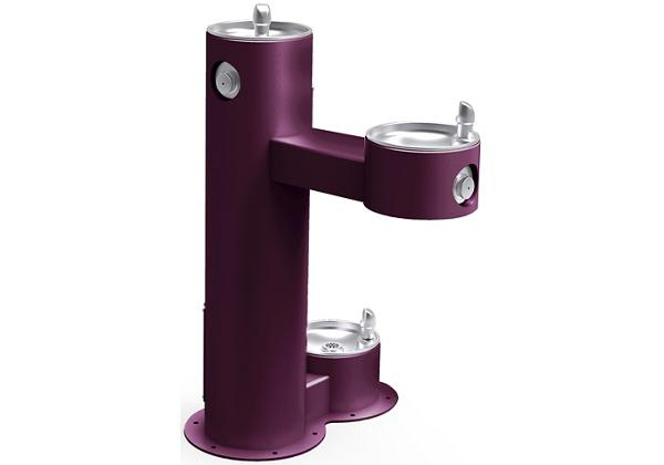 Image for Halsey Taylor Endura II Tubular Outdoor Fountain, Bi-Level Pedestal with Pet Station Non-Filtered Non-Refrigerated, Purple from Halsey Taylor