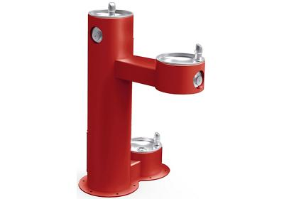 Image for Elkay Outdoor Fountain Bi-Level Pedestal with Pet Station, Non-Filtered Non-Refrigerated Red from ELKAY