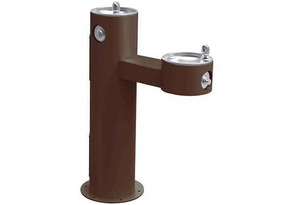 Image for Halsey Taylor Endura II Tubular Outdoor Fountain, Bi-Level Pedestal Non-Filtered Non-Refrigerated Freeze Resistant, Brown from Halsey Taylor