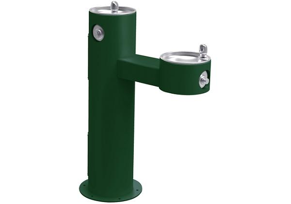 Image for Halsey Taylor Endura II Tubular Outdoor Fountain, Bi-Level Pedestal Non-Filtered Non-Refrigerated Freeze Resistant, Evergreen from Halsey Taylor