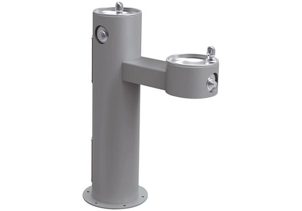 Image for Halsey Taylor Endura II Tubular Outdoor Fountain, Bi-Level Pedestal Non-Filtered Non-Refrigerated Freeze Resistant, Gray from Halsey Taylor