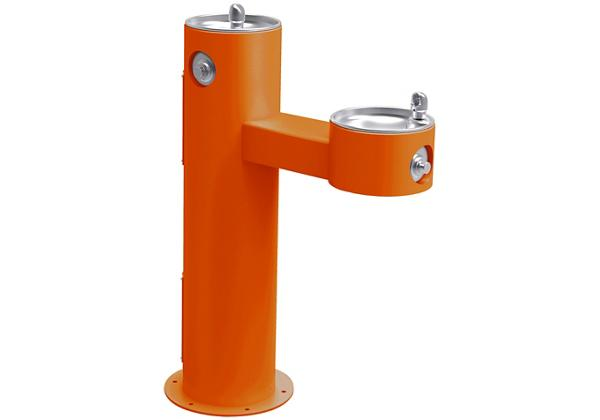 Image for Halsey Taylor Endura II Tubular Outdoor Fountain, Bi-Level Pedestal Non-Filtered Non-Refrigerated Freeze Resistant, Orange from Halsey Taylor