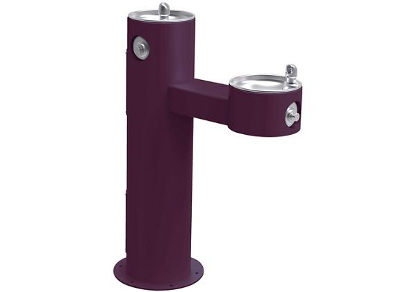 Image for Halsey Taylor EnduraII Tubular Outdoor Fountain, Bi-Level Pedestal, Non-Filtered, Non-Refrigerated, Freeze Resistant, Purple from Halsey Taylor