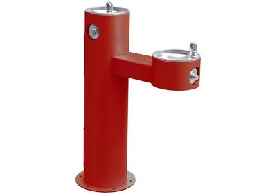 Image for Elkay Outdoor Fountain Bi-Level Pedestal Non-Filtered, Non-Refrigerated Freeze Resistant Red from ELKAY