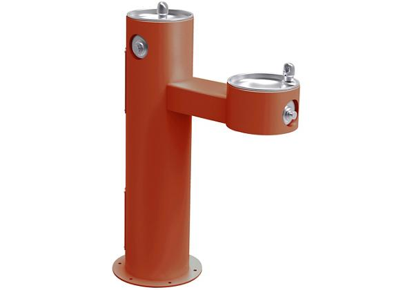 Image for Halsey Taylor Endura II Tubular Outdoor Fountain, Bi-Level Pedestal Non-Filtered Non-Refrigerated Freeze Resistant, Terracotta from Halsey Taylor