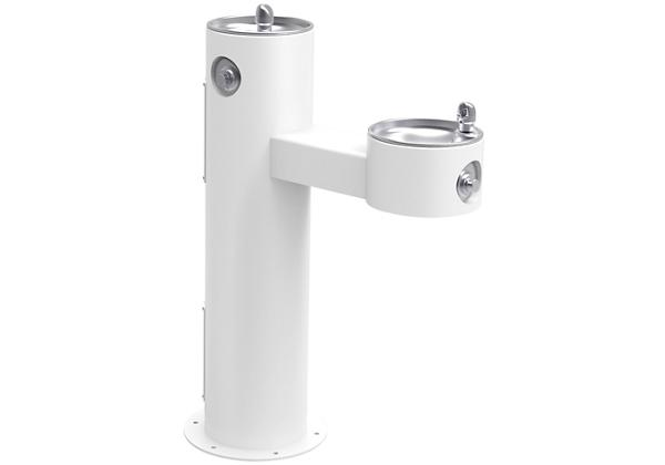 Image for Halsey Taylor EnduraII Tubular Outdoor Fountain, Bi-Level Pedestal, Non-Filtered, Non-Refrigerated, Freeze Resistant, White from Halsey Taylor