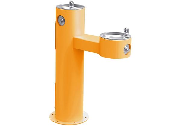 Image for Halsey Taylor EnduraII Tubular Outdoor Fountain, Bi-Level Pedestal, Non-Filtered, Non-Refrigerated, Freeze Resistant, Yellow from Halsey Taylor