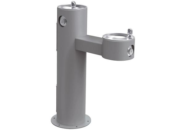 Image for Halsey Taylor EnduraII Tubular Outdoor Fountain, Bi-Level Pedestal, Non-Filtered, Non-Refrigerated, Gray from Halsey Taylor