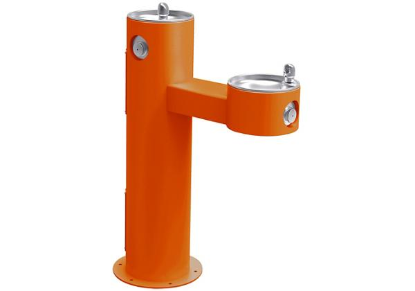 Image for Halsey Taylor EnduraII Tubular Outdoor Fountain, Bi-Level Pedestal, Non-Filtered, Non-Refrigerated, Orange from Halsey Taylor