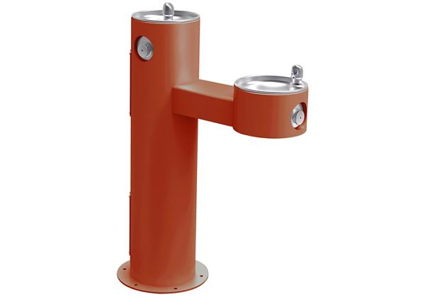 Image for Halsey Taylor Endura II Tubular Outdoor Fountain, Bi-Level Pedestal Non-Filtered Non-Refrigerated, Terracotta from Halsey Taylor
