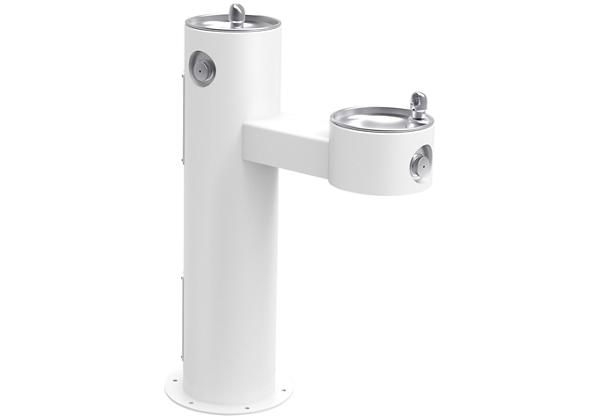 Image for Halsey Taylor EnduraII Tubular Outdoor Fountain, Bi-Level Pedestal, Non-Filtered, Non-Refrigerated, White from Halsey Taylor