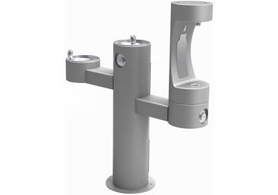 Image for Elkay Outdoor EZH2O Bottle Filling Station Tri-Level Pedestal, Non-Filtered Non-Refrigerated Gray from ELKAY